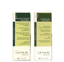 UNA Oxygenating Treatment 90 Ml & UNA Restructurizing Treatment for Damaged Hair 90 Ml / 3.17 Oz. by UNA