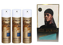 Christmas Deal With 3pc-Elnett Hairspray With 1pc-Silky Durag Blue Color