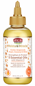 African Pride Moisture Miracle Castor, Grapeseed, Argan, Coconut & Olive 5 Essential Oils 4oz