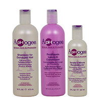 Aphogee Damaged Hair+Leave-In Conditioner+Keratin 2 Minute Reconstructor Set