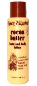 Queen Elisabeth Cocoa Butter Hand and Body Lotion 14 oz