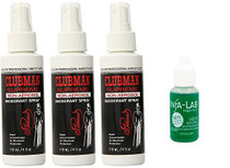 Clubman Non-Aerosol Deodorant Spray 4oz (3 Pack) with Infa Lab Liquid Stypic Skin Protector