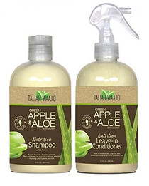 Taliah Waajid Green Apple & Aloe With Coconut Shampoo & Leave-In Conditioner Combo