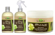 Taliah Waajid Green Apple & Aloe With Coconut Shampoo,Cond,Gel Combo