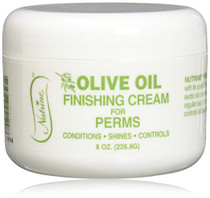 Nutrine Finishing Cream Olive Oil Jar For Perms, 8 Ounce