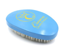 """LIMITED EDITION"" Crown 360 Gold Caesar Brush, Sky Blue – Mustard Yellow logo – Medium"