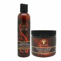 As I Am Leave-in Conditioner 8 Ounce and Coconut Cowash Cleansing Conditioner 16