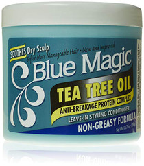 Blue Magic Tea Tree Leave-In Hair Styling Conditioner, 13.75 Ounce
