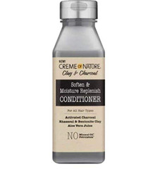 CREME OF NATURE CLAY & CHARCOAL CONDITIONER FOR ALL HAIR TYPES 12oz