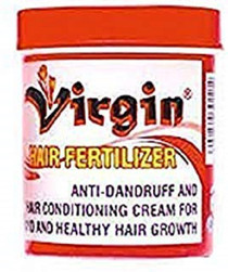 Virgin Hair Fertilizer Jar 200g Anti Dandruff And Conditioning Cream For Rapid And Healthy Hair Growth
