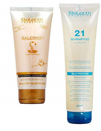 Salerm 21 Shampoo and Leave-in Conditioner Jasmine & amber Combo Set