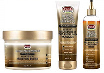 African Pride Black Castor Miracle Combo Set With MASQUE&RINSE&MOIST-BUTTER