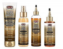 AFRICAN PRIDE BLACK CASTOR MIRACLE MASQUE&SPRAY&RINSE&SEALING-OIL COMBO