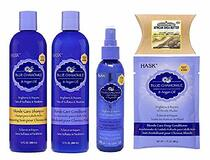 Hask Blue Chamomile & Argan Oil Combo SH&COND&SPRAY&DEEP-COND&SHEA-BUTTER