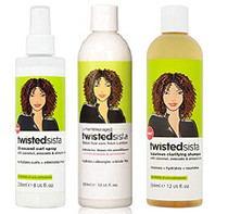 Twisted Sista Hair Product Care (30SEC-SPRAY-8OZ&CLARY-SHAMPOO&LEAVE-IN-COND)