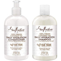 SheaMoisture 100% Virgin Coconut Oil Daily Hydration Shampoo & Conditioner 13oz