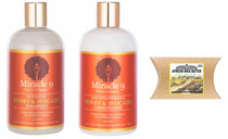 Miracle 9 Honey & Avocado Shampoo and Conditioner with African Shea Butter