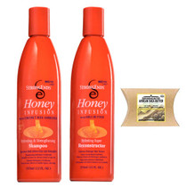 Strong Ends Honey Infusion Hydrating & Strengthening Shampoo and Hydrating Super Reconstructor with African Shea Butter