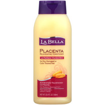 La Bella Placenta Rejuvenating Conditioner with Panthenol, Vitamins E & C, 25.4 fl. oz/ 750 ml