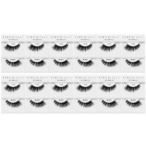 Kara Beauty 100% Human Hair  Eyelashes- S9 (Pack of 12)