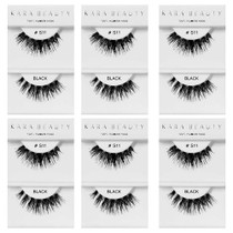 Kara Beauty 100% Human Hair  Eyelashes- S11 (Pack of 6)