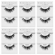 Kara Beauty 100% Human Hair  Eyelashes- S12 (Pack of 6)