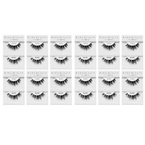 Kara Beauty 100% Human Hair  Eyelashes- S12 (Pack of 12)