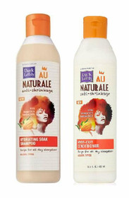 SoftSheen-Carson Dark & Lovely Au Naturale Anti-Shrinkage Hydrating Soak Shampoo & Knot Out Conditioner  set