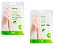 Absolute Repair and Care Hand Mask 2 Pairs (GREEN TEA)