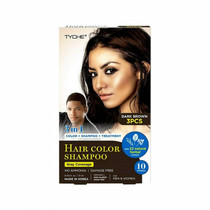 TYCHE Hair Color Shampoo, DARK BROWN (Pack of 3)