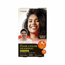 TYCHE Hair Color Shampoo, OFF BLACK (Pack of 3)