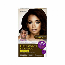 TYCHE Hair Color Shampoo, Natural Brown (Pack of 3)