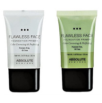 Absolute New York FLAWLESS Face Foundation Primer (Clear & Green)