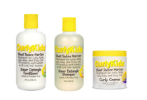 Curly Kids Mixed Texture Hair Care Set (Super Shampoo +Conditioner+ Curly Creme)