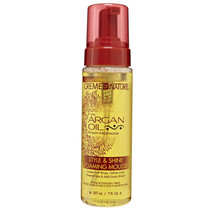 Creme of Nature Argan Oil Style & Shine Foaming Mousse 7 oz