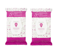 Summer's Eve 5-in-1 Simply Sensitive Cleansing Cloths, Pack of 2 (32 ct in Each)