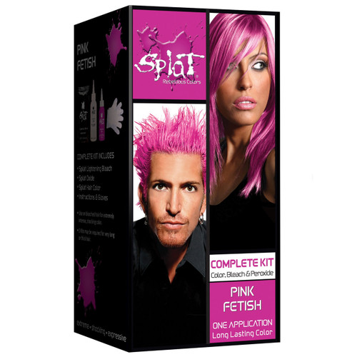 Splat Rebellious Colors Semi-Permanent Hair Dye, Pink Fetish