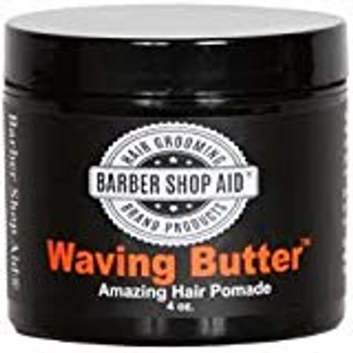 Barber Shop Aid Waving Butter Amazing Hair Pomade, Mega Thick 4 oz