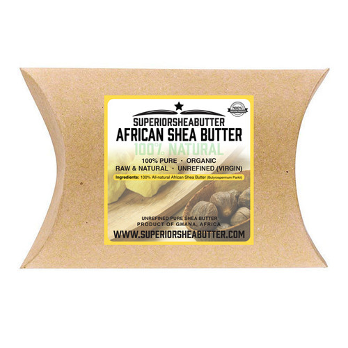 Superior Shea Butter African Shea Butter 100% Natural Unrefined (Virgin) - Yellow 0.5 oz