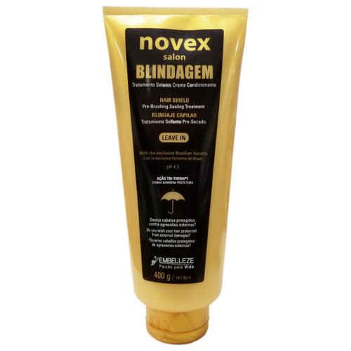 Novex Salon Blindagem Capilar Treatment Hair Shield Leave-In, 14.1 oz