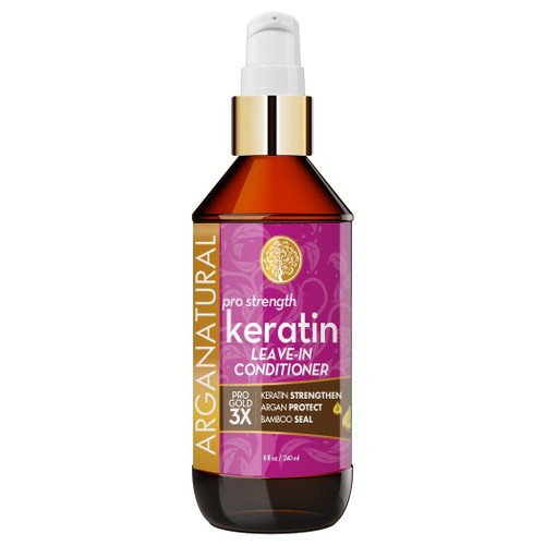 Arganatural Gold Pro Strength Keratin Leave-In Conditioner 8 oz