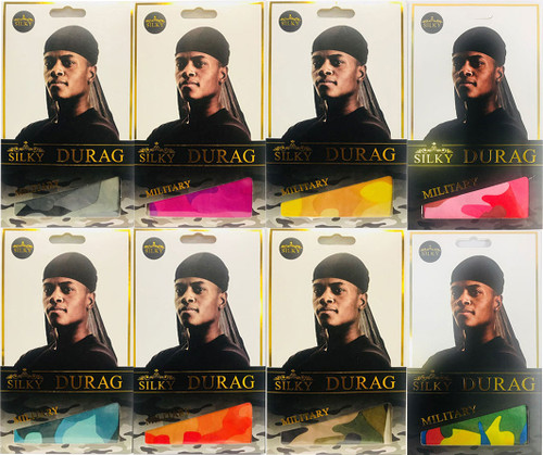 Silky Durag for Men (PICK YOUR COLOR) Military