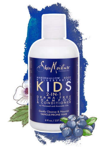 MARSHMALLOW ROOT & BLUEBERRIES KIDS 2-IN-1 DRAMA-FREE SHAMPOO & CONDITIONER