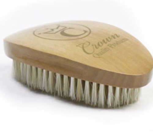 Crown Quality Products 360 Caesar Premium Wave Brush Medium/Hard Firm (Golden Oak)