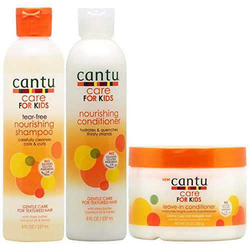 """Cantu Care for Kids Nourishing Shampoo & Conditioner & Leave-in Conditioner """"Set"""""""