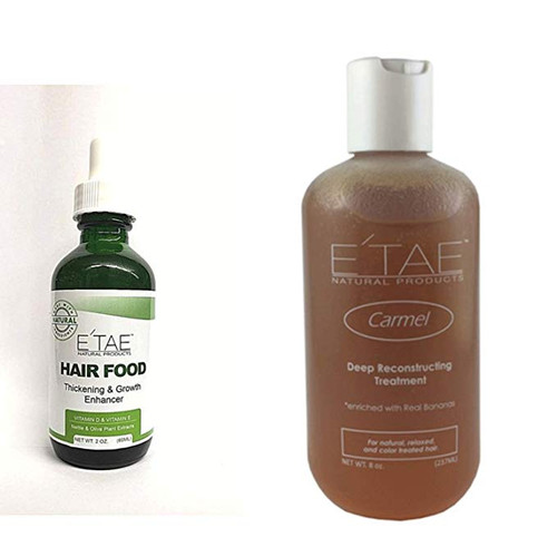 E'Tae Natural Carmel Deep Penetrating Treatment 8oz and Hair Food 4oz combo (Carmel&Hair Food)