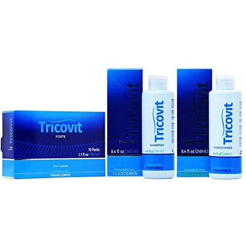 Tricovit Shampoo + Conditioner 8.4oz + Hair Lotion 2.7oz