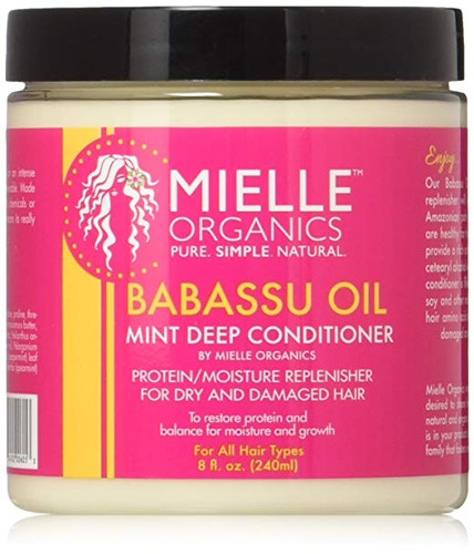 Mielle Babassu Oil And Mint Deep Conditioner  8oz
