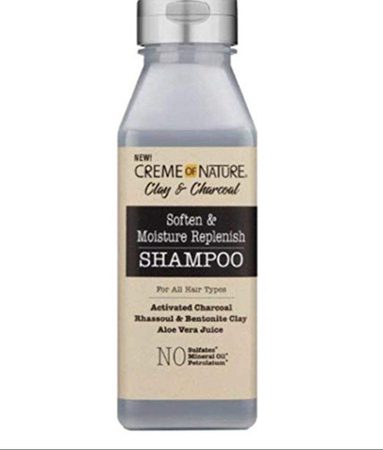 CREME OF NATURE CLAY & CHARCOAL SHAMPOO FOR ALL HAIR TYPES 12oz