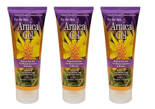 Roberts Research Arnica Gel For The Skin 7.5oz (Pack Of 3)